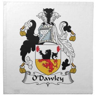Escudo de la familia de O'Dawley Servilleta De Papel