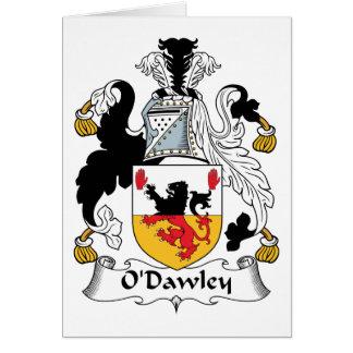 Escudo de la familia de O'Dawley Tarjeta De Felicitación