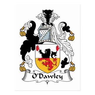 Escudo de la familia de O'Dawley Tarjetas Postales