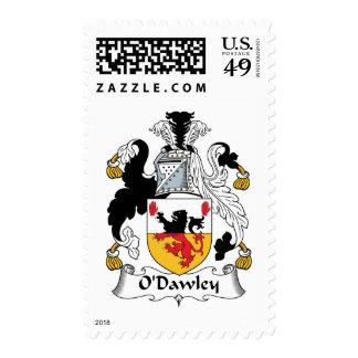 Escudo de la familia de O'Dawley Timbre Postal