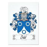 Escudo de la familia de Oddi Invitación 12,7 X 17,8 Cm