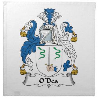 Escudo de la familia de O'Dea Servilleta Imprimida
