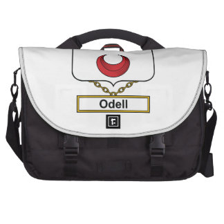 Escudo de la familia de Odell Bolsas Para Portátil
