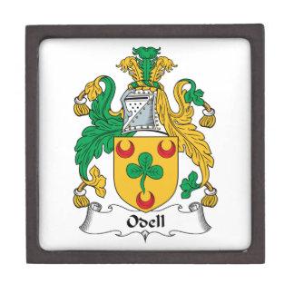 Escudo de la familia de Odell Caja De Recuerdo De Calidad