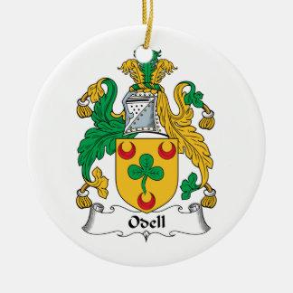 Escudo de la familia de Odell Ornamento Para Arbol De Navidad