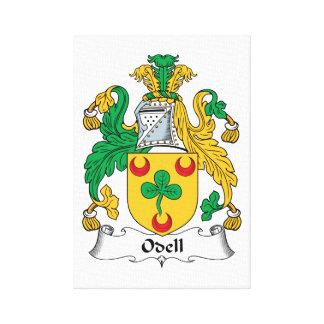 Escudo de la familia de Odell Impresion De Lienzo