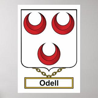Escudo de la familia de Odell Posters