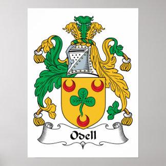 Escudo de la familia de Odell Poster