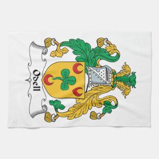 Escudo de la familia de Odell Toallas De Cocina