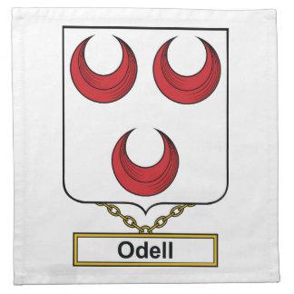 Escudo de la familia de Odell Servilletas De Papel