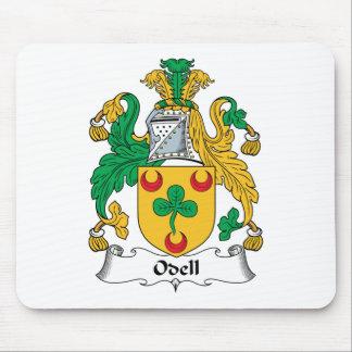 Escudo de la familia de Odell Tapetes De Raton