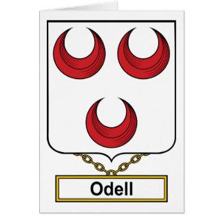 Escudo de la familia de Odell Felicitación