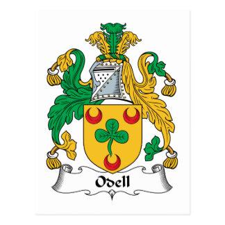 Escudo de la familia de Odell Postales