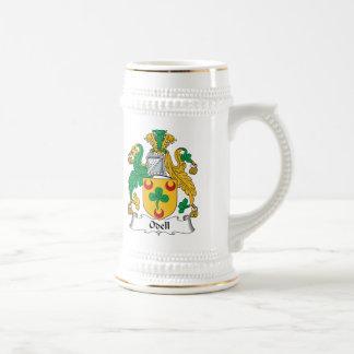 Escudo de la familia de Odell Jarra De Cerveza