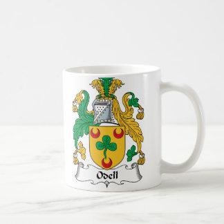 Escudo de la familia de Odell Taza Básica Blanca