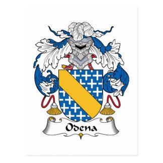 Escudo de la familia de Odena Tarjeta Postal