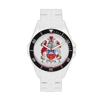 Escudo de la familia de O'Denny Reloj
