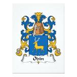 Escudo de la familia de Odin Invitación 16,5 X 22,2 Cm