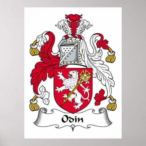 Escudo de la familia de Odin Póster