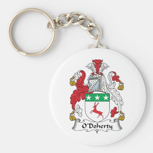 Escudo de la familia de O'Doherty Llavero Redondo Tipo Pin