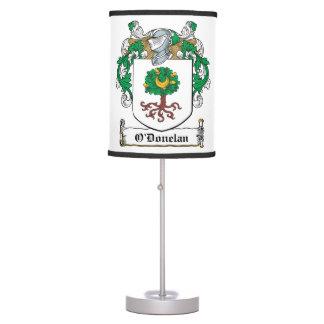 Escudo de la familia de O'Donelan Lámpara De Escritorio