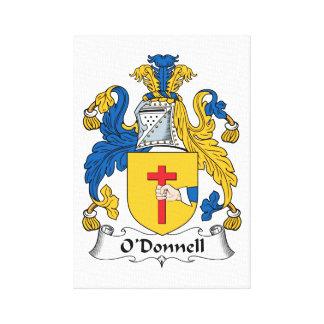Escudo de la familia de O'Donnell Lienzo Envuelto Para Galerías