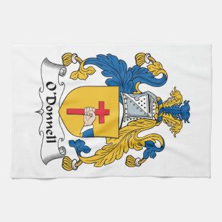 Escudo de la familia de O'Donnell Toallas De Mano