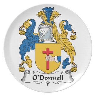 Escudo de la familia de O'Donnell Plato De Comida