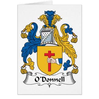 Escudo de la familia de O'Donnell Felicitaciones