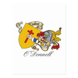 Escudo de la familia de O'Donnell Tarjeta Postal