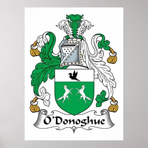 Escudo de la familia de O'Donoghue Póster