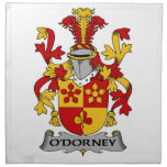 Escudo de la familia de O'Dorney Servilleta