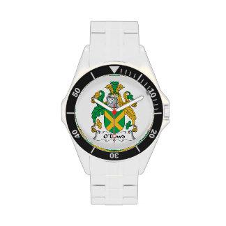 Escudo de la familia de O'Dowd Relojes