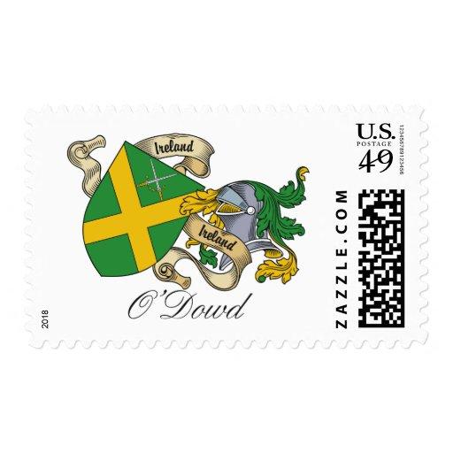 Escudo de la familia de O'Dowd Timbre Postal