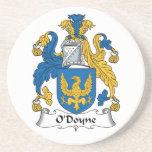 Escudo de la familia de O'Doyne Posavaso Para Bebida