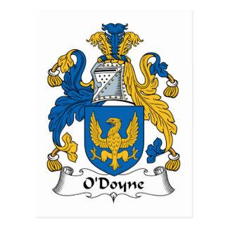 Escudo de la familia de O'Doyne Postales