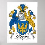 Escudo de la familia de O'Doyne Poster