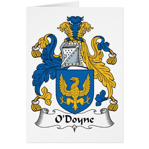 Escudo de la familia de O'Doyne Tarjeton