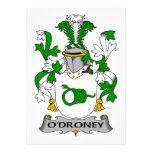 Escudo de la familia de O'Droney Comunicados Personales