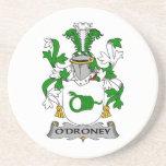 Escudo de la familia de O'Droney Posavasos Personalizados