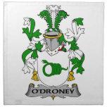 Escudo de la familia de O'Droney Servilletas