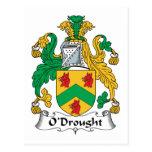 Escudo de la familia de O'Drought Postal