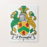 Escudo de la familia de O'Drought Puzzles Con Fotos