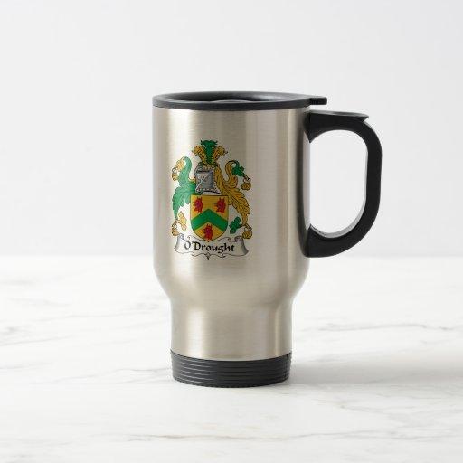 Escudo de la familia de O'Drought Taza De Café