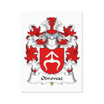 Escudo de la familia de Odrowaz Impresión En Lona Estirada