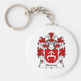 Escudo de la familia de Odrowaz Llavero Redondo Tipo Pin