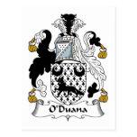 Escudo de la familia de O'Duana Tarjetas Postales