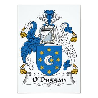 """Escudo de la familia de O'Duggan Invitación 5"""" X 7"""""""