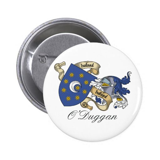 Escudo de la familia de O'Duggan Pin Redondo 5 Cm