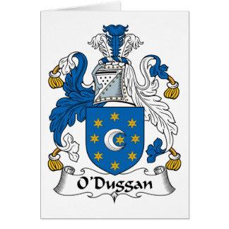Escudo de la familia de O'Duggan Tarjeta De Felicitación